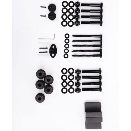 HomCom Kit de Instalação de Calha para Porta de Correr sem Obra - Cor Castanho - Aço Carbono – 200 x 4 x 0,8 cm