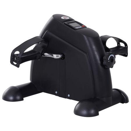 HOMCOM Mini bicicleta Estática Aparelho de Exercício Braços e Pernas Resistência ajustável Tela LCD 39x40x31cm
