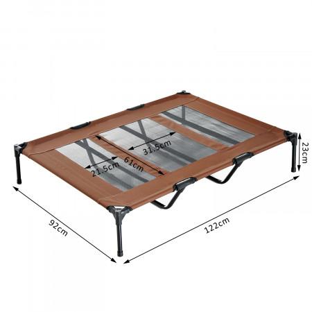 PawHut Cama para Animais de estimação Tela Cor de Café 122 x 92 x 23 cm
