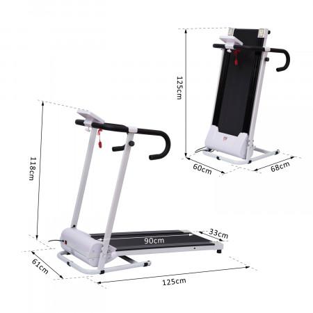 HomCom Passadeira Dobrável e Elétrica de 500W para Fitness 1-10Km/h com Visor LCD e Carga Máx. 110kg