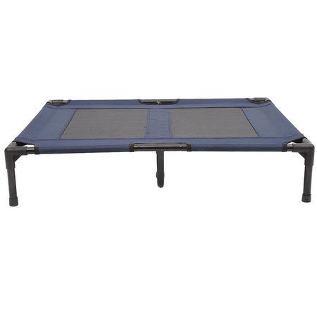 Pawhut Cama de animal de estimação ou cachorro para terraço e jardim ao ar livre - Azul - 91,5x76,2x18 cm