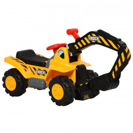 HOMCOM Brinquedo da Escavadeira 4 em 1 para crianças acima de 3 Anos com pá caixa escondido aro 98x30x46cm