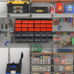 DURHAND Organizador de parafusos e ferragens para parede Caixas 2 Tamanhos 37,5x18x95,5