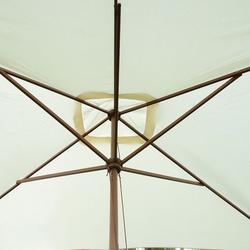 Guarda-sol para Varanda e Jardim- Cor: Creme- Madeira- 200 x 300 x 250 cm