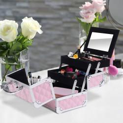HomCom® Mala para Maquilhagem Organizador Cosméticos Profissional 20x15x15cm