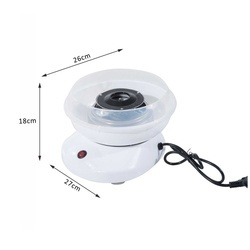 HomCom® Máquina de Fazer Algodão Doce Branco Alumínio 27x26x18cm