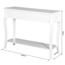 HomCom® Mesa Consola Aparador Sala Sala de Jantar Móvel Entrada com Gavetas e Estante 100x33x76cm
