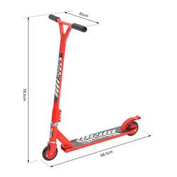 HomCom® Trotinete Freestyle Scooter Trotinete de Acrobacia Giratório 360º Vermelho