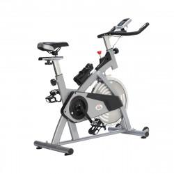 HOMCOM Bicicleta Estática de Exercícios com selim guiador Resistência Ajustável Tela LCD de aço 96x50x107 cm Carga 110 kg Prata