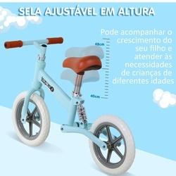 HOMCOM Bicicleta Sem Pedais Para Crianças Acima de 2 Anos Bicicleta de Treino Equilíbrio 85x36x54 cm (LxANxAL) Azul