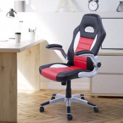HOMCOM Cadeira de escritório ergonômica Altura ajustável Com 5 rodas 71x64x109-119 cm