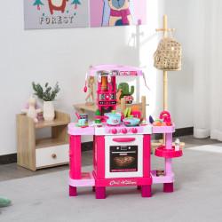 HOMCOM Conjunto de brinquedos educativos para crianças acima de 3 anos com 38 peças rosa
