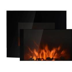 HomCom Lareira Elétrica tipo Aquecedor de Parede 1000 W / 2000 W - 88,5 x 13,5 x 56 cm