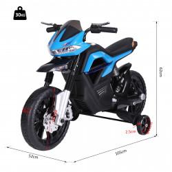 HOMCOM Motocicleta Elétrica Brinquedo das crianças Motocicleta Crianças de a partir de 3 anos Bateria 6V com Luzes e Música 105x52.3x62.3cm