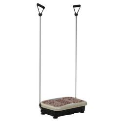 HOMCOM Plataforma de Vibração com 2 Bandas Elásticas para Treinamento de Fitness 200 W com Controle Remoto e Carga 120 kg