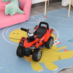 HOMCOM Quadriciclo elétrico para crianças +12 meses com sons de luzes 60x38x42 cm Vermelho
