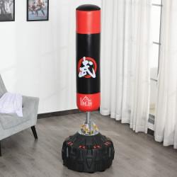 HOMCOM Saco de boxe em pé com molas de base completa areia / água Φ60x180 cm