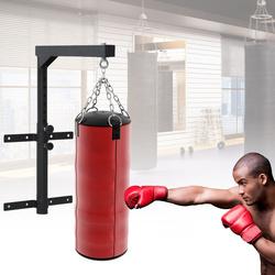 HomCom Suporte de Teto para Saco Ajustável Cabide Boxe Parede Gancho Bolsa Pesada MMA Tubo Robusto de Aço Carga máx. 100kg