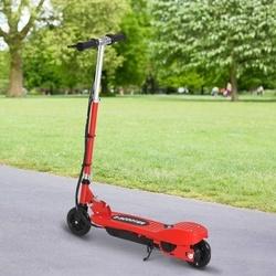 HOMCOM Trotinete Elétrica Criança De 7-14 Anos Dobrável Guiador Ajustável 12km/h Bateria Recarregável Carga 50kg Vermelho