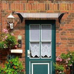 Outsunny Cobertura para portas Janelas Toldo Terraços de policarbonato de 5mm Transparente Proteção contra chuva e sol 90x120x25cm