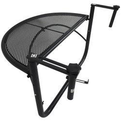 Outsunny Mesa de Suspensão de Varanda Semicircular 60x45x50 cm Ajustável