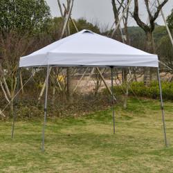 Outsunny Tenda de jardim portátil dobrável de 3x3m com bolsa de transporte rodas de aço para festas ao ar livre.
