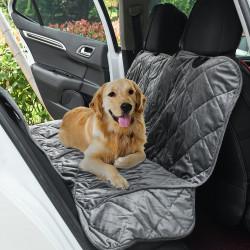 PawHut Coberta Protetora para Animais de Estimação Antiderrapante e Aberturas para Cinto de Segurança Fácil de Instalar e Limpar para carro 160x145cm Cinza