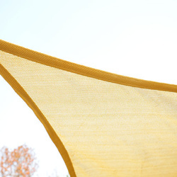 Toldo Vela 4x4x4m Triângulo Cor Areia Guarda-sol Parasol Terraço Jardim Camping