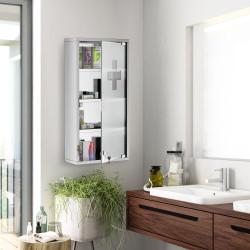 Armário Casa de banho 60x30x12 cm primeiros socorros aço inoxidável