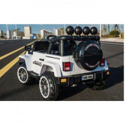 Carro Elétrico Jeep FullTime 4x2 12V Bateria c/ Comando Branco