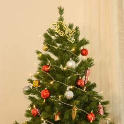 HOMCOM Árvore de Natal artificial de 1,5 m de base dobrável para decoração de natal verde