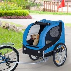 HomCom Atrelado de Bicicleta Cão de Estimação 130x90x110 cm 1 Bandeira 6 Refletores Bicicleta