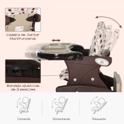 HOMCOM Cadeira para bebês acima de 6 meses 3 posições ajustáveis Acolchoado Branco