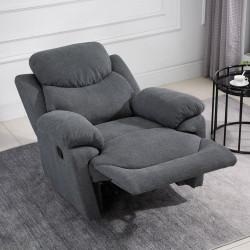 HOMCOM Cadeira Reclinável Ergonômica 150 ° Apoio para os pés Almofada Acolchoada 97x96x105,5 Cinza