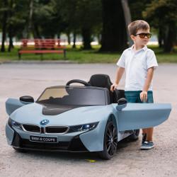 HOMCOM Carro elétrico acima de 3 anos Licença BMW I8 115x72,5x46 cm Azul