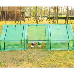 Homcom Estufa pequena com janelas- Cor verde - Tubos de aço e PE 140 g / m2 - 270x90x90cm