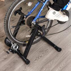 HOMCOM Instrutor de Bicicleta Ergométrica Dobrável com Resistência de 8 Níveis de Aço 120kg Preto