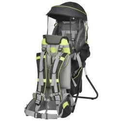 HOMCOM Mochila porta bebês dobrável Ergonômico para bebês acima de 6 meses Carga 18 kg 38x77x87,5cm Verde