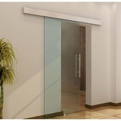 HomCom Porta de Correr de Vidro Translúcido de 205 x 90 cm
