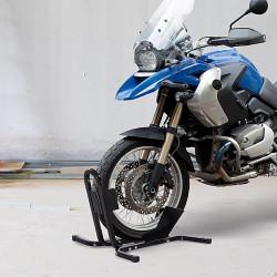 HOMCOM Suporte ajustável da roda da motocicleta do metal do estacionamento da motocicleta para as rodas ∅43 48 53cm