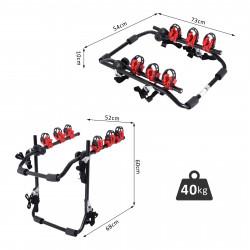 HOMCOM Suporte de Bicicleta Universal Carga 40 kg 68x52x60 cm Aço e Alumínio