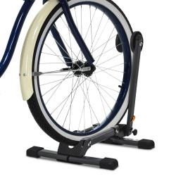 HOMCOM Suporte de chão para bicicletas Portátil dobrável Roda de estacionamento para garagem 39x35x45,5 cm Preto