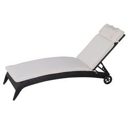 Outsunny Almofada Espreguiçadeira 198x53x5cm Colchão Suave para Espreguiçadeira Almofada Dobrável Cobertura Acolchoada para Exterior para Cadeira Reclinável de Jardim Pátio