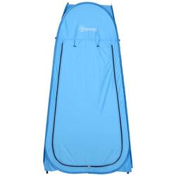 Outsunny Barraca de Acampamento 100x100x185 cm Instantâneo Tipo Carpa Trocador de Chuveiro Banheiro WC para Camping