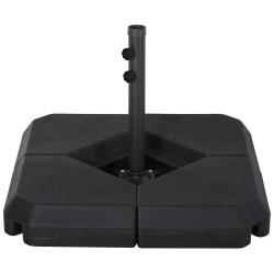 Outsunny Base de guarda-sol crucial de 4 pesos recarregável com areia, água 80x80x50 cm