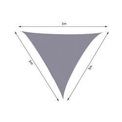Outsunny Toldo de vela Triângulo para Varanda, Jardim ou Parque do Campismo - Cor Cinzento - Poliéster - 3x3 x 3 m