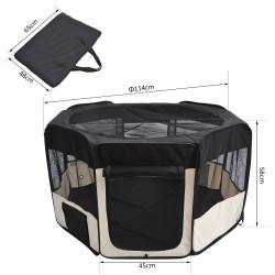 Parque Animais de estimação Dobrável 2 Medidas Diversão Treino Quarto Cão Cachorros