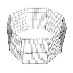 Parque Cães Gaiola Dobrável Animais de Estimação Cerca Treino Cachorros 8 Barreiras 71x91,5 cm