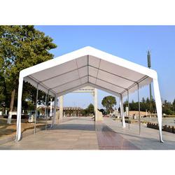 Pérgula tipo Lona para Jardim e Varanda - Cor: Branca- Aço Galvanizado e Tela de PE- 6 x 4 x 2,8 m