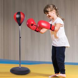 Saco de boxe de pé Punching Ball treino MMA desporto com luvas